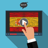 Concept of learning languages. Study Spanish. Royalty Free Stock Photography