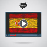 Concept of learning languages. Study Spanish. Royalty Free Stock Image