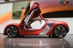 Concept électrique de Renault Dezir - Genève 2011 Images libres de droits