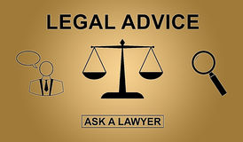 Concept of legal advice. Illustration of a legal advice concept Stock Photo