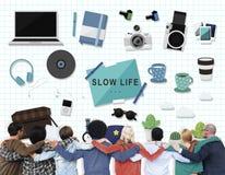 Concept lent de loisirs de passe-temps de la vie de hippie Photos stock