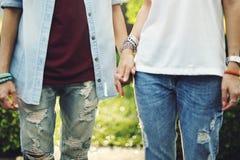 Concept lesbien de bonheur de moments de couples de LGBT Images stock