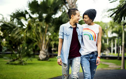 Concept lesbien de bonheur de moments de couples de LGBT photo libre de droits