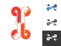 Concept lié par Logotype créatif d'alphabet dans le vecteur Lettre abstraite moderne Logo Design Elements illustration de vecteur