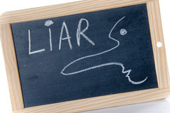 Concept of liar Royalty Free Stock Images
