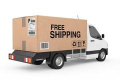 Concept libre d'expédition La cargaison industrielle commerciale blanche livrent Image libre de droits