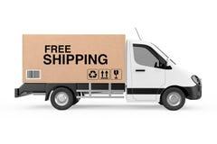 Concept libre d'expédition La cargaison industrielle commerciale blanche livrent Image stock