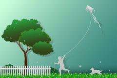 Concept liefde de aarde, sparen het de gelukkige milieu en aard, royalty-vrije illustratie