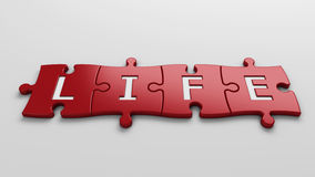 Concept life. Isolated word life with clipping path Royalty Free Stock Photography