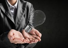 Concept lightbulb als symbool van nieuw idee Royalty-vrije Stock Afbeelding