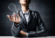 Concept lightbulb als symbool van nieuw idee Stock Foto's
