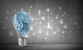 Concept lightbulb als symbool van nieuw idee Royalty-vrije Stock Foto