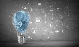 Concept lightbulb als symbool van nieuw idee Stock Foto