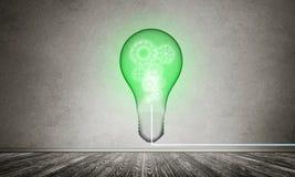 Concept lightbulb als symbool van nieuw idee Royalty-vrije Stock Foto's