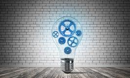Concept lightbulb als symbool van nieuw idee Stock Afbeeldingen