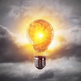 Concept of lightbulb as symbol of new idea. Stock Photography