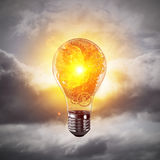 Concept of lightbulb as symbol of new idea. Royalty Free Stock Images
