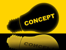 Concept Lightbulb Means Conceptualization Lamp And Theory Royalty Free Stock Images
