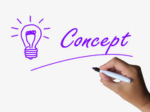 Concept and Lightbulb Show Conception Ideas. Concept and Lightbulb Showing Conception Ideas and thinking Stock Images