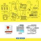 Concept linéaire de web design Photos stock