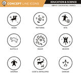 Concept Line Icons Set 17 Cave art Royalty Free Stock Images