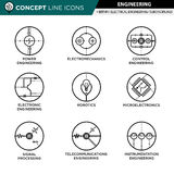 Concept Line Icons Set 01 Engineering stock illustration