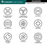 Concept Line Icons Set 02 Engineering stock photography