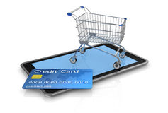 Concept of on line shopping Royalty Free Stock Images