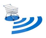 Concept of on line shopping Stock Photos
