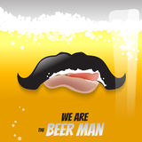 Concept liquide d'illustration de vecteur de bière Photos stock