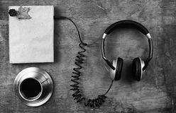 Concept of listening to audio books in the learning process Stock Photography