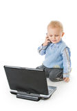 Concept of little businessman Royalty Free Stock Image