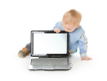 Concept of little businessman Royalty Free Stock Photos