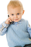 Concept of little businessman Stock Photography