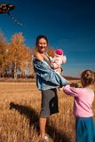 A young woman with baby royalty free stock photo