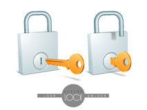 Concept of lock and unlock. Royalty Free Stock Image
