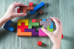 The concept of logical thinking. Stock Images