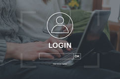 Concept of login Stock Image