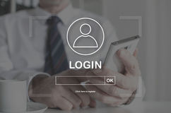 Concept of login Royalty Free Stock Images