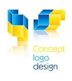 Concept logo design Stock Photography