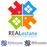 Concept Logo. Real estate logo concept,symbol illustration Royalty Free Stock Photos