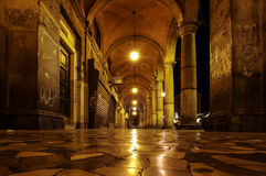 Concept of loneliness in the city empty corridor in the Rome Italy Royalty Free Stock Images