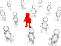 The concept - loneliness among crowd. Concept - loneliness among crowd. Object over white Stock Images