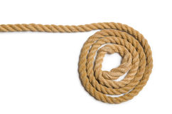 The concept with long hemp rope Royalty Free Stock Images