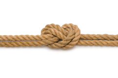 Concept with long hemp rope Stock Photos