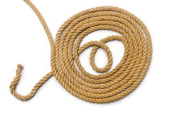 Concept with long hemp rope Stock Images