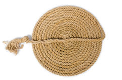 The concept with long hemp rope Stock Photo