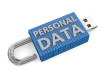 Concept for loss of personal data. USB key unlocked depicting a loss or risk to personal data Stock Photography