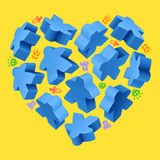 Concept of love by board games Stock Photography