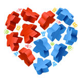 Concept of love by board games Stock Photo